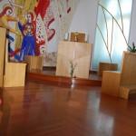 Kapela - Pater dr. Marko I.Rupnik (Vatikan), Lakiran parket Jatoba+Doussie