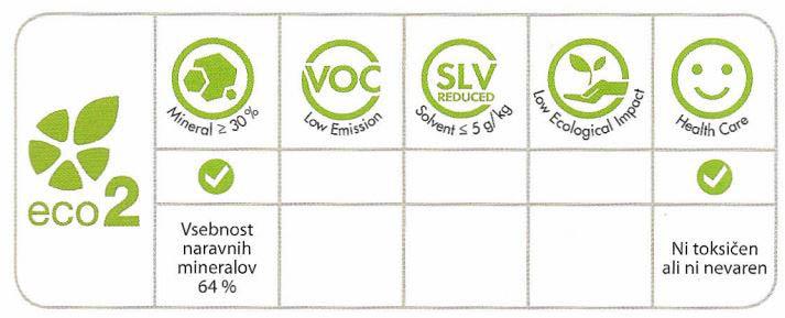 Ekološko lepilo Slc Eco L34 - Lastnosti