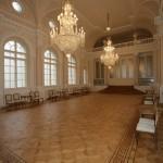 Predsedniška palača - Kristalna dvorana (Mozaični parket: Hrast oljen + Bordura št.21) + Hrast olje WOCA Diamond