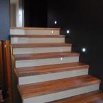 stopnice, ameriški oreh, lesene stopnice