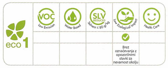 Organska smola Slc Eco PU31 - Lastnosti