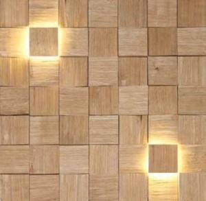 stenska obloga - natur + LED indirektna svetloba