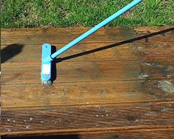 čiščenje terase z čistilom exterior cleaner