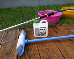 kaj potrebujemo za čiščenje terase