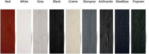 woca exterior paint - barvna paleta