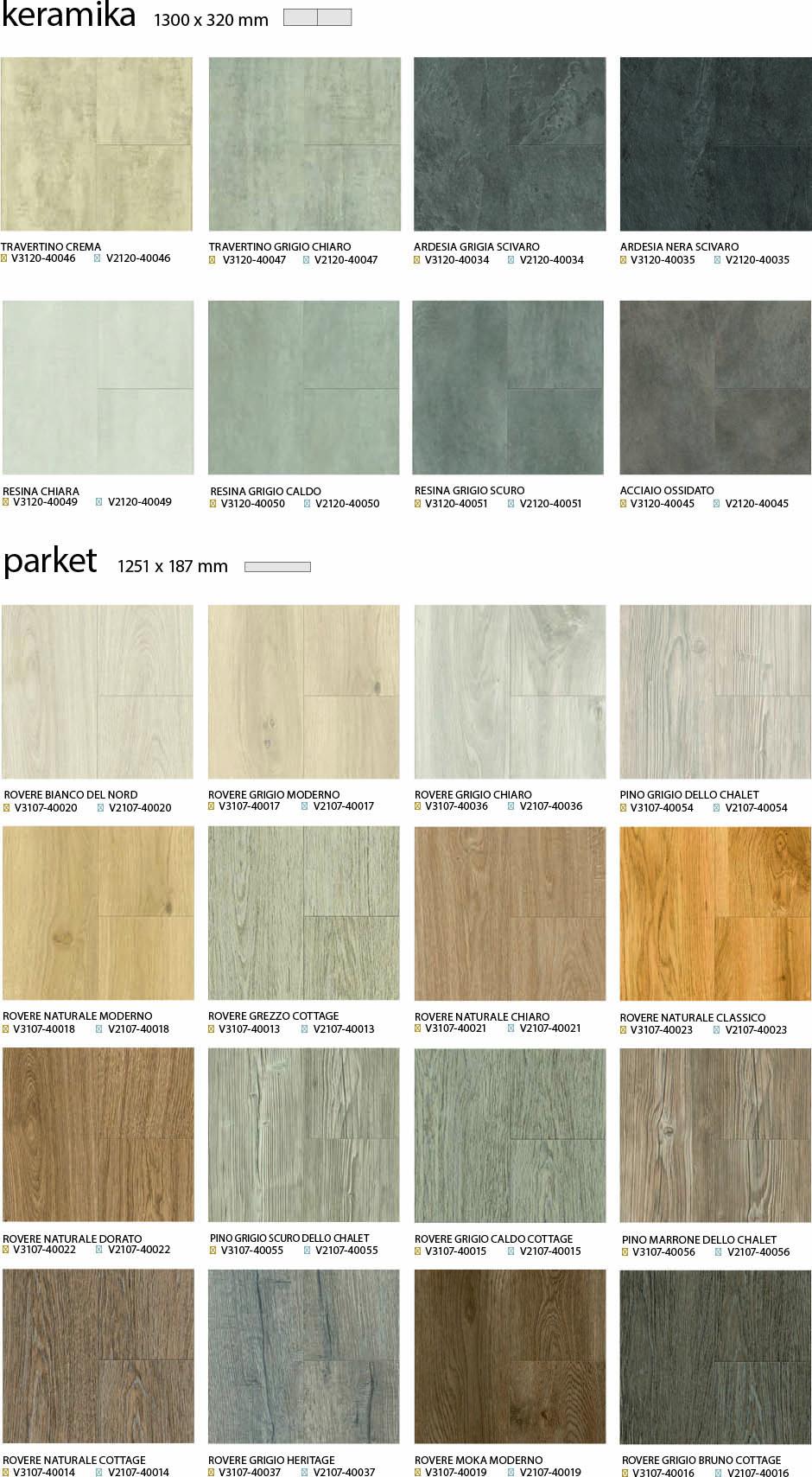 Vzorci pergo vinilnih plošč